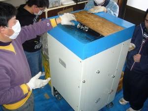 リサイクル事業(空き缶圧縮)